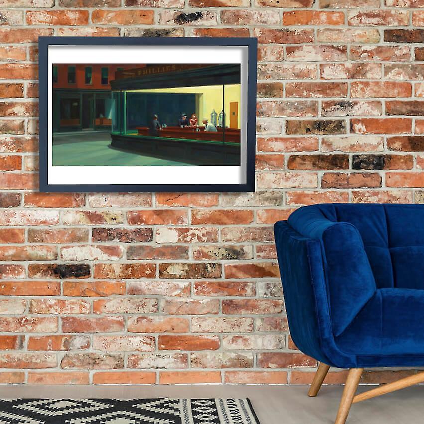 Edward Hopper Nighthawks Poster Print Giclee Fruugo Za