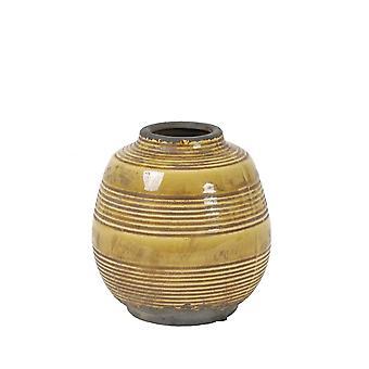 Light & Living Vase Deco 16.5x17.5cm Sinabung Ceramics Ocher