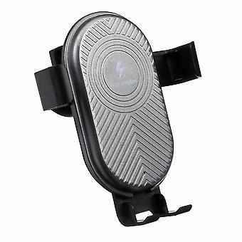 Carregador sem fio qi de 15W carregamento rápido ligação de ventilação do telefone do carro para telefone inteligente de 4,0-6,5 polegadas