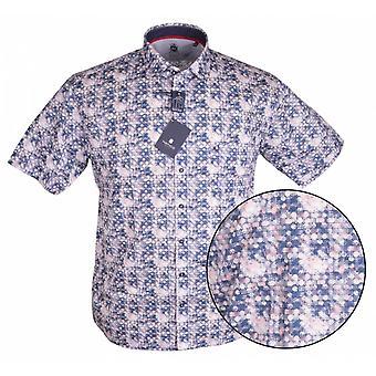 HATICO Hatico Circle Print Short Sleeve Shirt