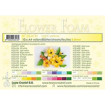 Leane Creatief Flower Foam Sheets A4 Light Yellow