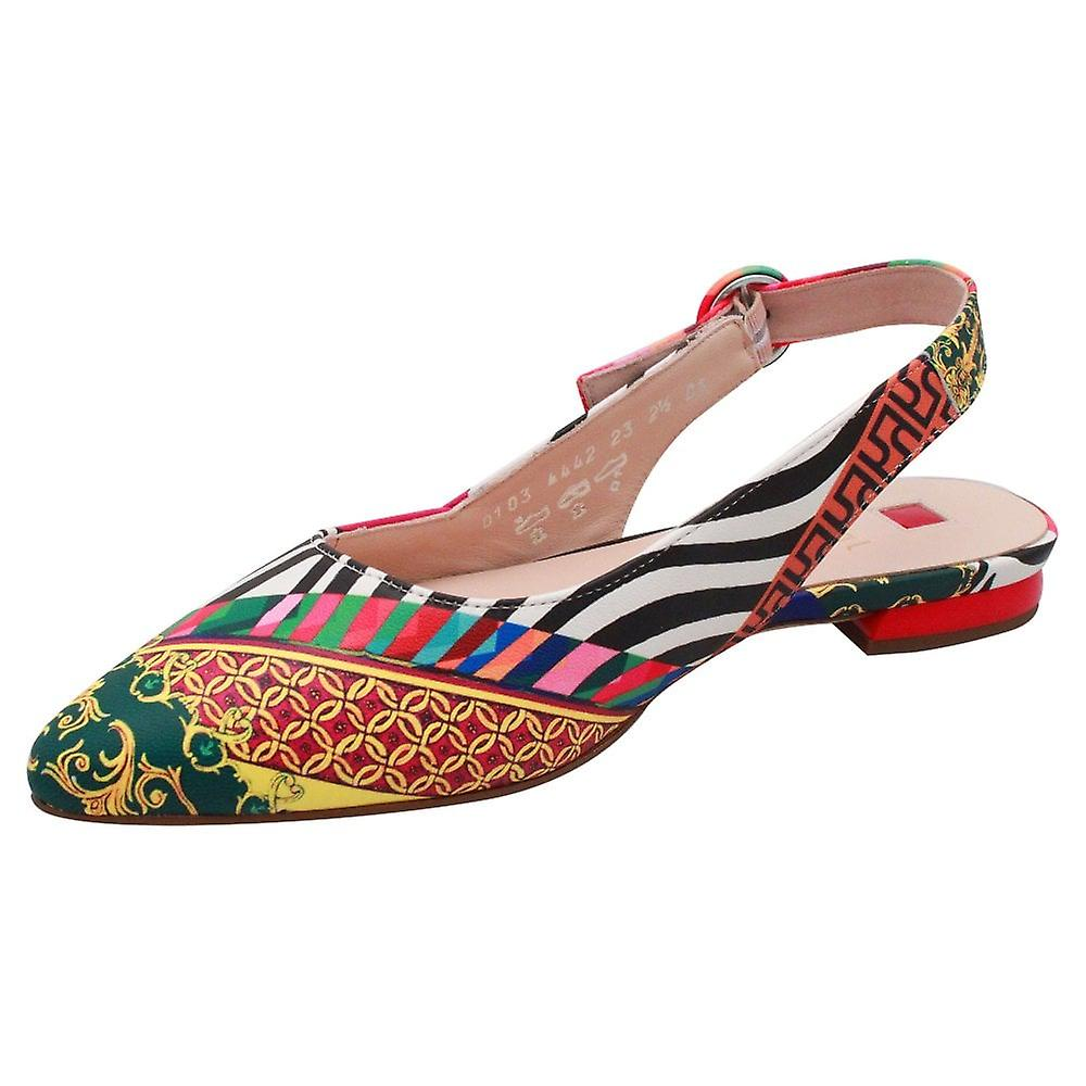 Hogl Cheery Multicoloured Low Heel Sling Back Court Shoe