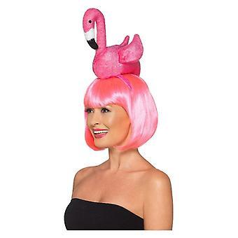 Dame Pink Flamingo hovedbøjle Fancy kjole tilbehør