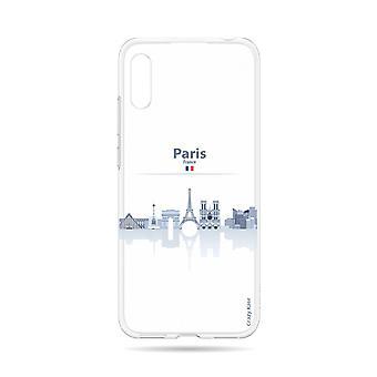 Skrov för Huawei Y6 2019 Flexibla monument De Paris