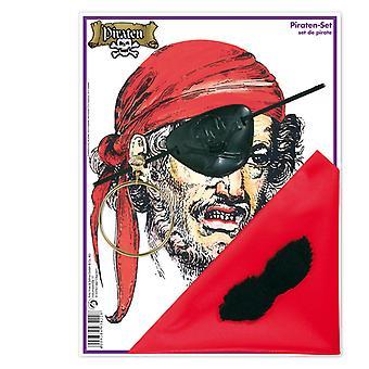 Pirat satt 4 deler lapp driver klut ørering tilbehør Navigator