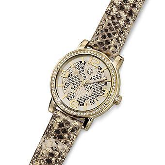 Oliver Weber horloge Vigo Leopard goud