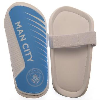Manchester City FC Childrens/Kids Shin Pads