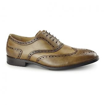 Azor Cresto Mens Pelle Oxford Brogues Tan