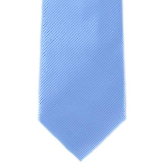 Michelsons of London Plain Rib Polyester Tie - Blue