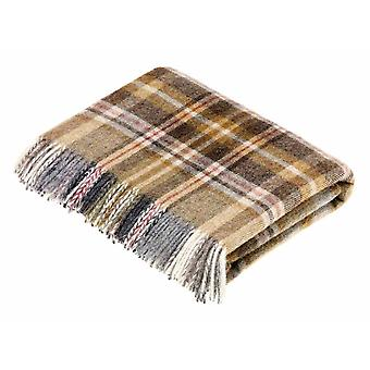 Wool throw glen Coe mustard