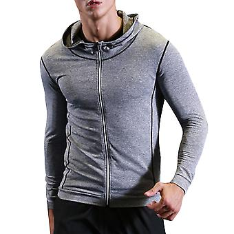 Allthemen Men's Polyester Zipper Hooded Quick-Drying Sports Jacket