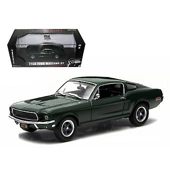 1968 Ford Mustang GT Fastback Green Steve McQueen Film Bullitt (1968) 1/43 Diecast Model Car par Greenlight