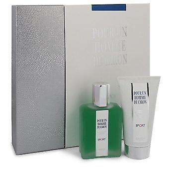 Caron Pour Homme Sport presente definido por Caron 2,5 oz Eau DE Toilette Spray + 2,5 oz Shower Gel