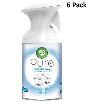 6 X 250Ml Air Wick Pure Air Freshner Spray - Sunset Cotton