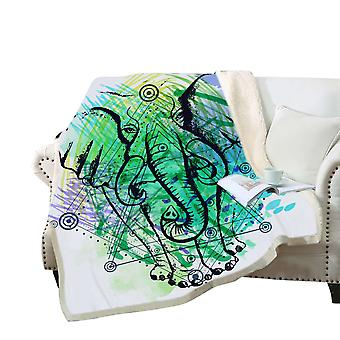 3D elephant printed blanket Polyester multi-purpose blanket high-quality