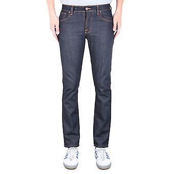 Nudie Jeans Co Grim Tim Dry Open Navy Denim Jeans