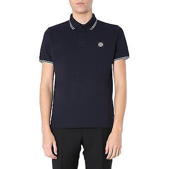 Stone Island 101522s18v0020 Men's Blue Cotton Polo Shirt
