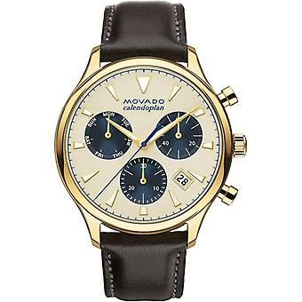 Movado 3650007 Heritage Chronograph Parchment Dial Men's Watch
