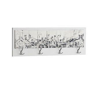 Appendiabiti Funart 1 Color Bianco in Truciolare Melaminico 70x25 cm
