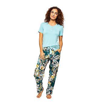 Cyberjammies Valerie 4537 Kvinnor's Ljusblå placket Pyjama Topp
