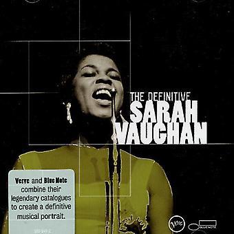 Sarah Vaughan - Definitive Sarah Vaughan [CD] USA import