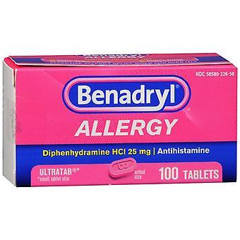 Benadryl allergy ultratab, tablets, 100 ea *