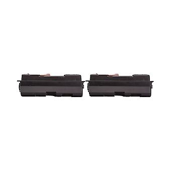 RudyTwos 2x Replacement for Kyocera TK-130 Toner Unit Black Compatible with Mita FS-1028MFP, FS-1028DP, FS-1128MFP, FS-1300, FS-1300D, FS-1300DN, FS-1300DTN, FS-1300N, FS-1350, FS-1350DN, FS-1350N
