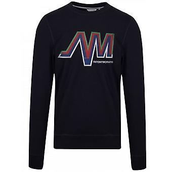 Antony Morato Navy Blue Logo Crew Neck Sweatshirt