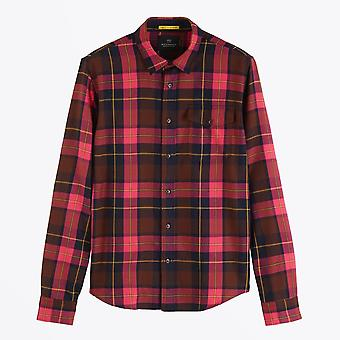 Scotch & Soda  - Checked Shirt - Pink/Multi