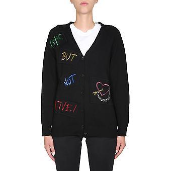 Boutique Moschino 093858030555 Dames's Black Viscose Cardigan