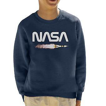NASA Soyuz Launch Logo Kid's Sweatshirt