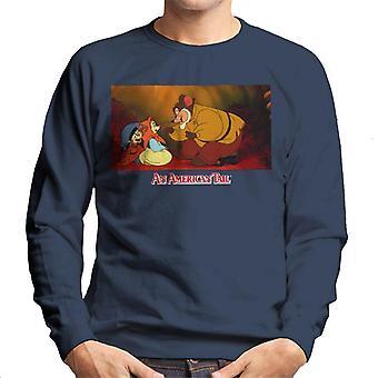 An American Tail Papa Talking To Tanya Men's Sweatshirt