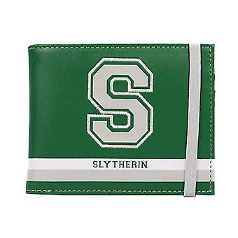 Harry Potter Wallet S For Slytherin Varsity Logo new Official Green Bifold