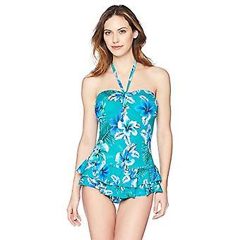 Brand - Coastal Blue Women's Control One Piece Swimsuit, Kahoni, M