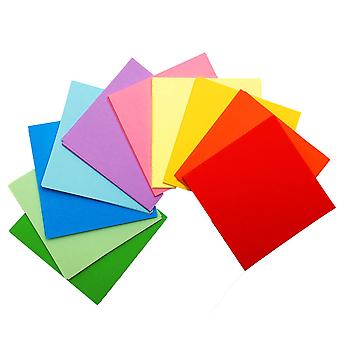 50 Sheets of 7 Inch (175mm) Assorted Coloured Origami Paper