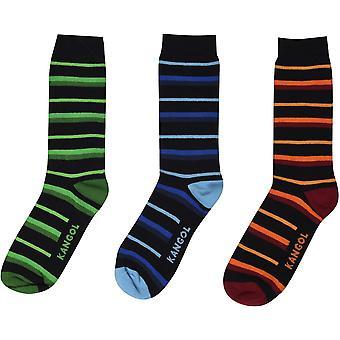 Kangol Formal Socks 3 Pack Mens