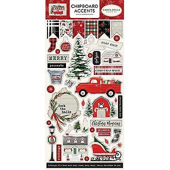 Carta Bella julemarked 6x13 tommers sponplater aksenter