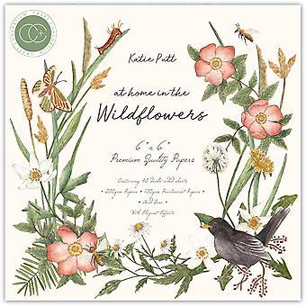 Craft Consortium kotona Wildflowers 6x6 Tuuman paperityyny