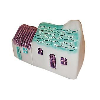 Wee Semi-vrijstaande Bothies Tin/slate-roofed Purple & Seamist door Glenshee Pottery