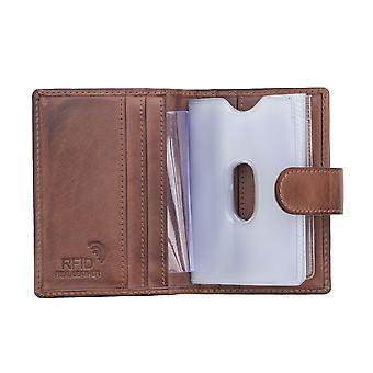Primehide Mens Leather Card Holder Portefeuille RFID Bloquant Gents 6402