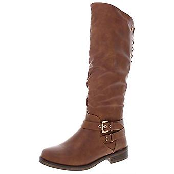 XOXO Womens Montclair Faux Leather Lace Up Riding Boots