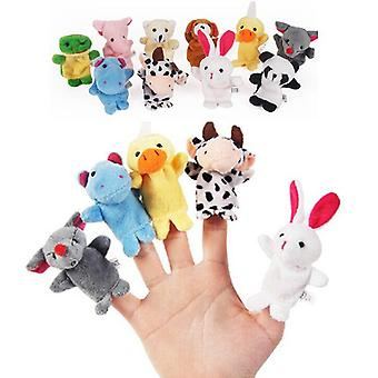 Animal Finger Puppets Cloth Doll Baby Kids Finger Plush Dolls Play