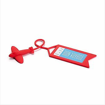 Silicone Airplane Luggage Tag