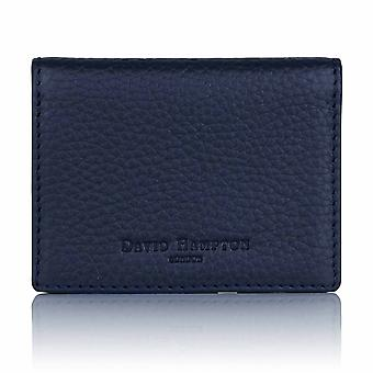 Midnight Blue Richmond Leather Travel Card Holder