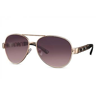 Sunglasses Unisex pilot full framed cat.3 violet/gold