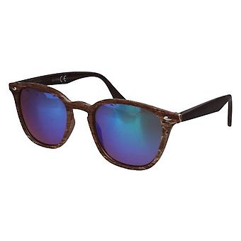 Sunglasses Unisex Wayfarer green/brown (20-207A)