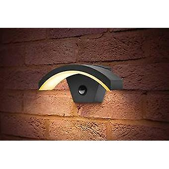 Outdoor LED Curve Wall Light 8W 3000K 360lm IP54 met geïntegreerde PIR-sensor