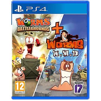 Worms Battlegrounds & Worms WMD Double Pack PS4 Game