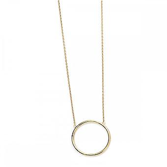 Elements Gold 9CT Yellow Gold Open Circle Necklace GN224