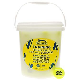 Slazenger Training Tennis Balls Bucket 5 Dozen All Surface Pressureless